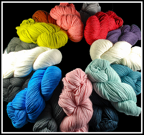 Blue Sky Alpaca EXTRA_all colours in circle
