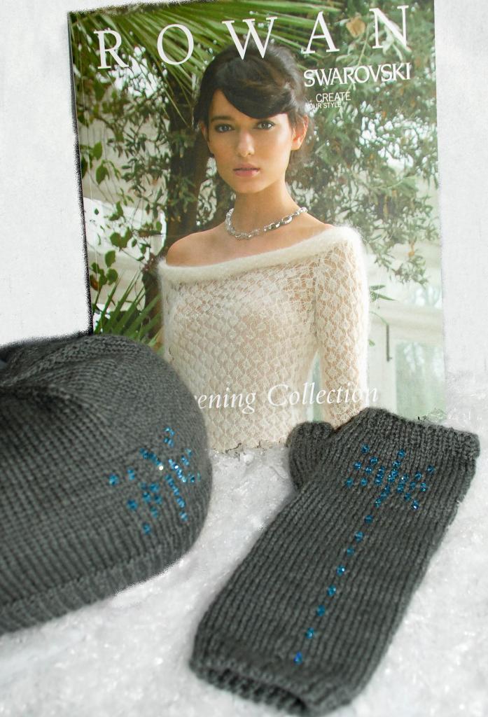 Sworvski Hat and Glove